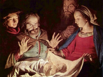 19-Nativity by Gerard van Honthorst