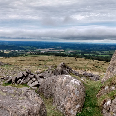 Dartmoor rocks and view ws