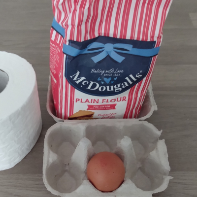 Flour and eggs and toilet roll
