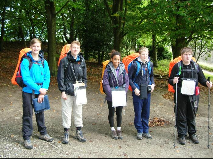 Silver group at the start of their expedition